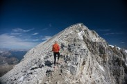 The final summit ridge to Mount Temple