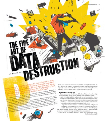 Network World magazine :: DATA DESTRUCTION