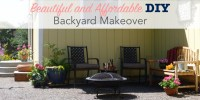 Beautiful and Affordable DIY Backyard Makeover | Single ...