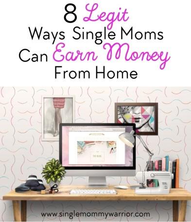 legit ways single moms earn money from home