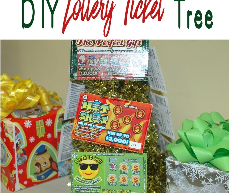 DIY Lottery Ticket Tree