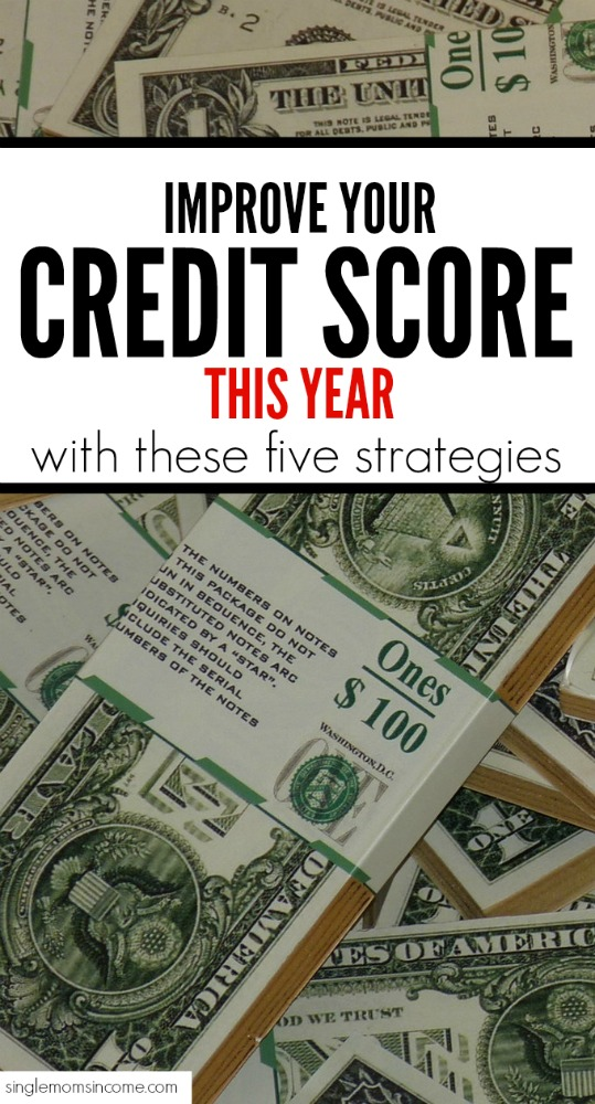 Just because your credit score isn't where you want it doesn't mean it has to stay that way! Here are five things to do this year for a better credit score. #personalfinance #creditscore #money