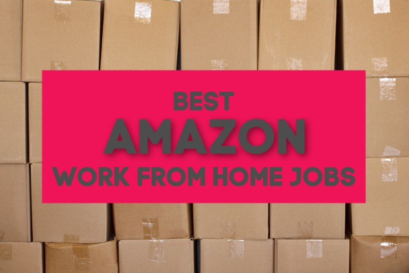 Looking for a work from home job with a reputable company? Here are the five best Amazon work from home jobs - something for all skill levels.