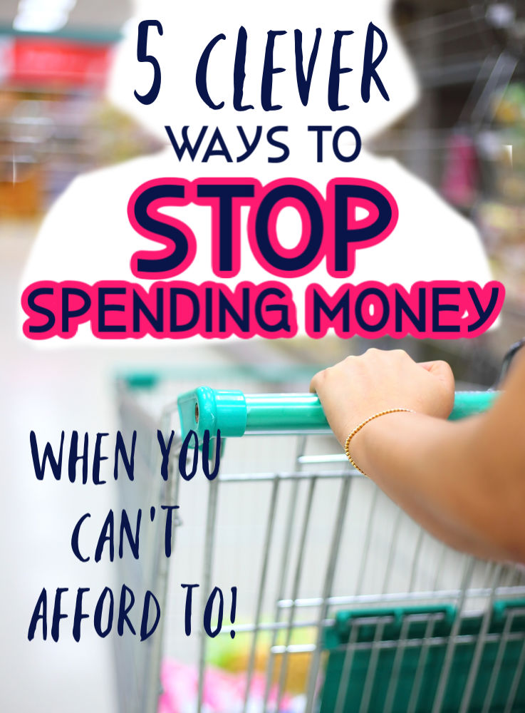 Sick of impulsively spending all of your hard earned money? If so you'll love these five clever ways to stop spending when you can't afford it.
