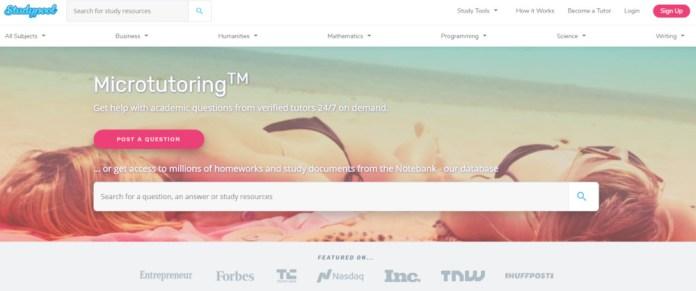 Make more money as a studypool tutor - screenshot of Studypool website.