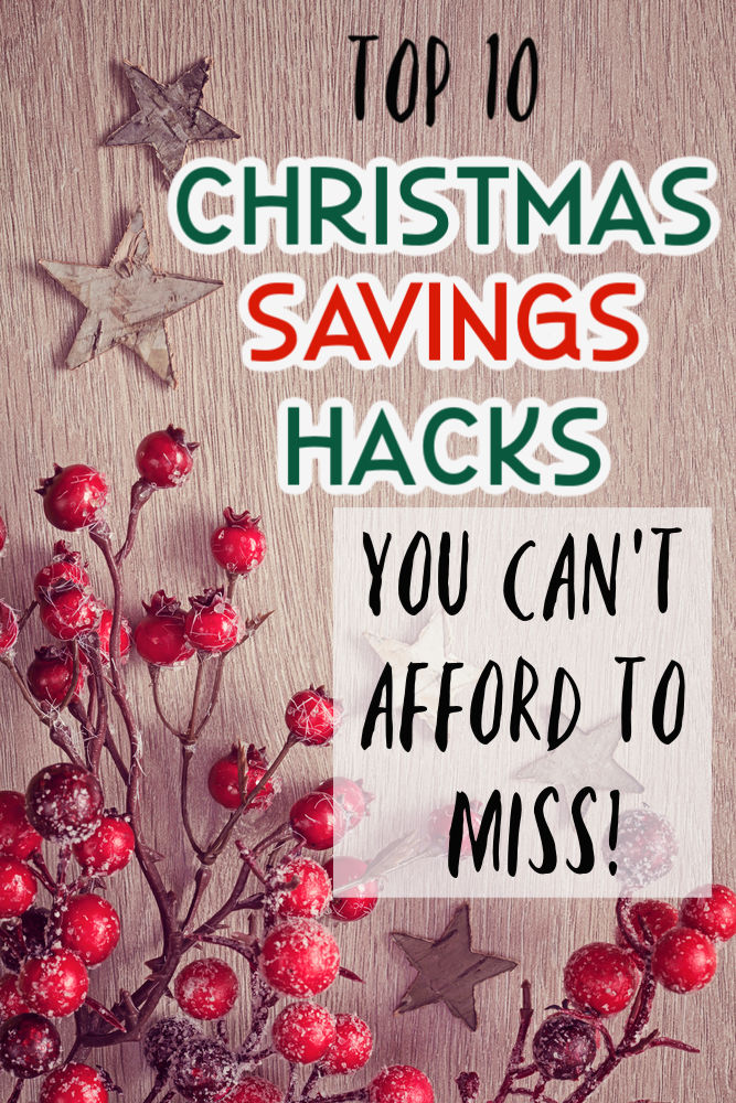 Don't let your Christmas spending get out of hand. Stay on budget and keep stress levels down with these ten amazing Christmas saving hacks!