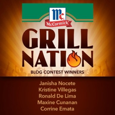 McCormick Grill Nation Nuffnang Blog winners