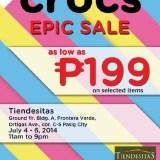 Crocs Epic Sale in Tiendesitas this rainy season