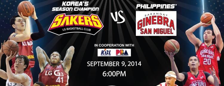 LG Sakers vs Barangay Ginebra - ASIAN BASKETBALL SHOWDOWN