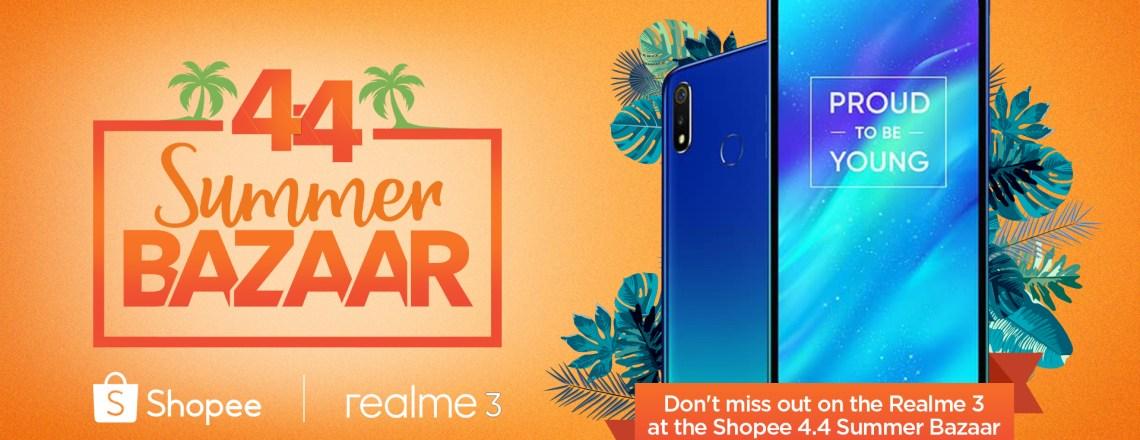 Shopee 4.4 Summer Bazaar get Realme 3
