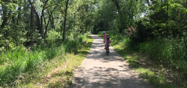 riding bikes on LOBO trail