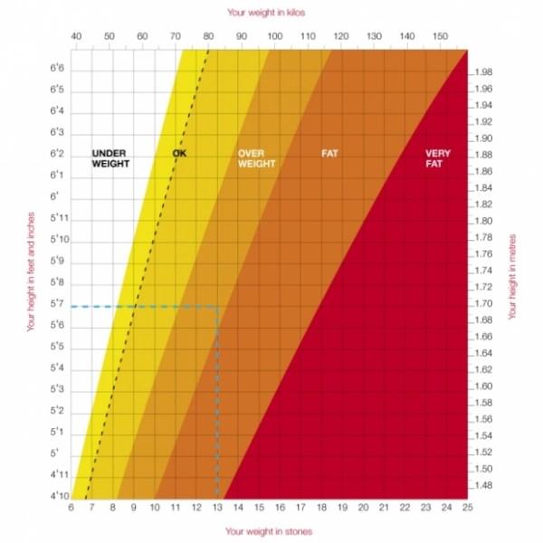 Chỉ số chiều cao cân nặng lý tưởng