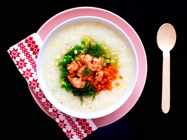 Món ăn tốt cho bà bầu: Cách nấu cháo cá hồi ngon và bổ