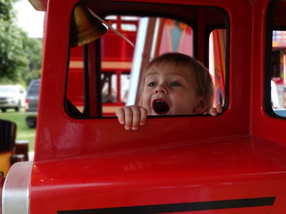 bus on carousel