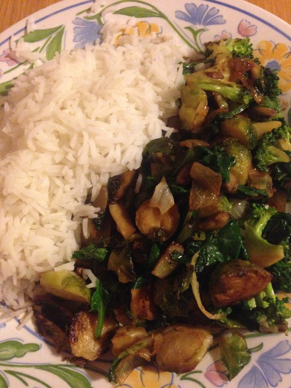 sprout stir-fry