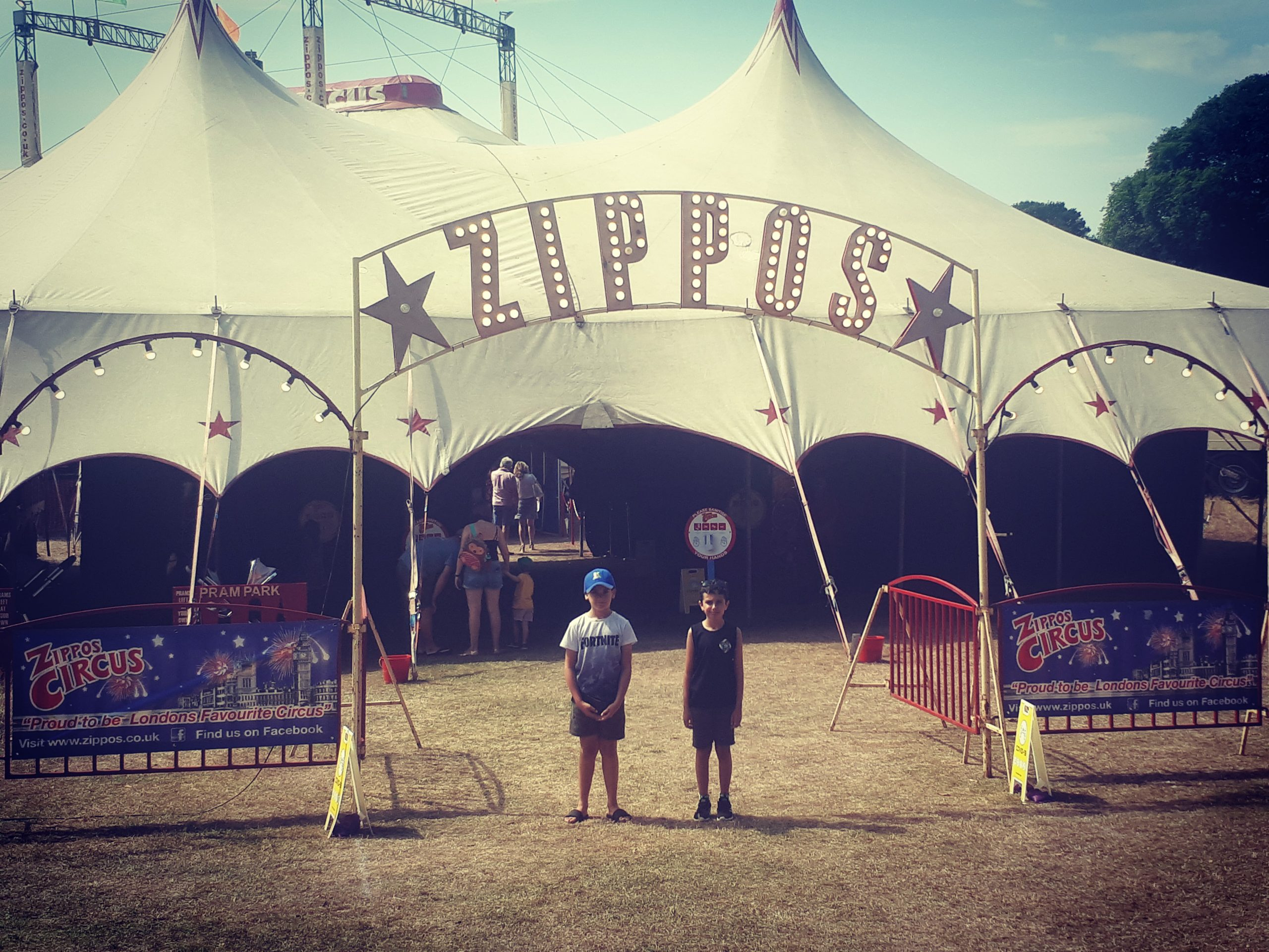Zippos Circus Entrance with the kids