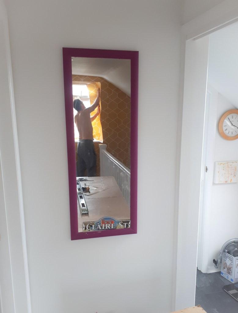 Before mirror decorating