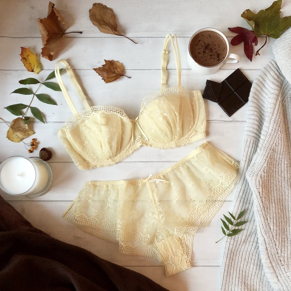Bra and underwear from the blossom collection of  Irresistible Gift Boutique