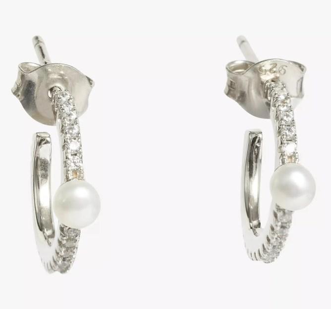 Sterling silver freshwater pearl earrings by Lido