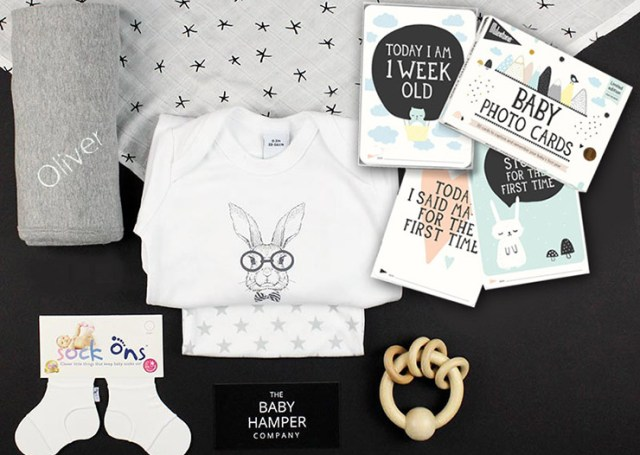 Personalised Baby Hamper set by the Baby Hamper Company