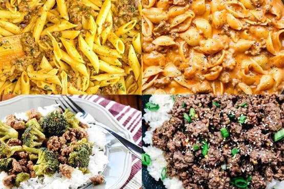 Recipes with ground beef. Perfect weeknight meal