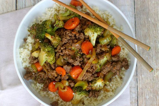 Recipes with hamburger meat . easy ground beef stir-fry