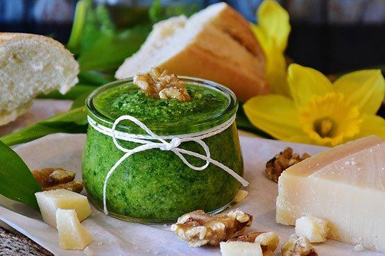 Recipes with pesto. Homemade basil pesto!