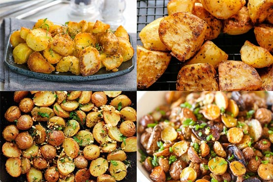 Crispy roasted potatoes. Super side dish