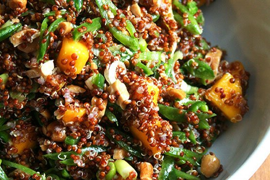 Recipes with mango . quinoa salad with mango, lime & ginger