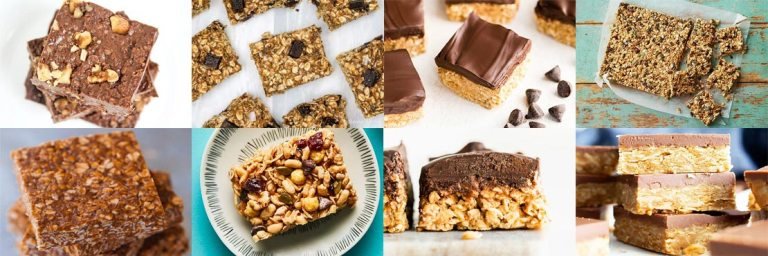 Healthy no-bake oatmeal bars. Easy to make