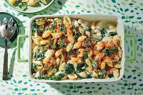 Creamy Kale and Pasta Bake easy casserole Recipes