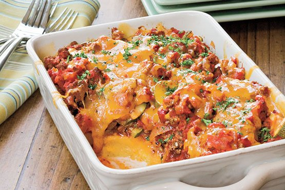 Tomato 'n' Beef Casserole With Polenta Crust Recipes
