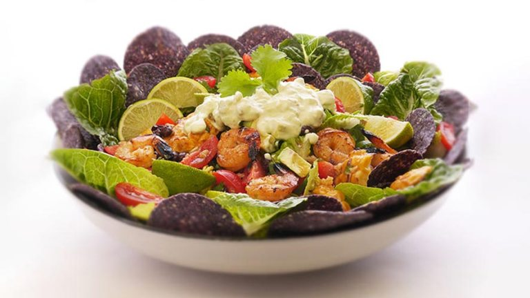 Easy Mexican Prawn Nacho Salad