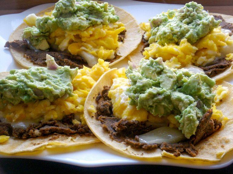 Scrambled Eggs and Black Bean Soft Taco Recipe