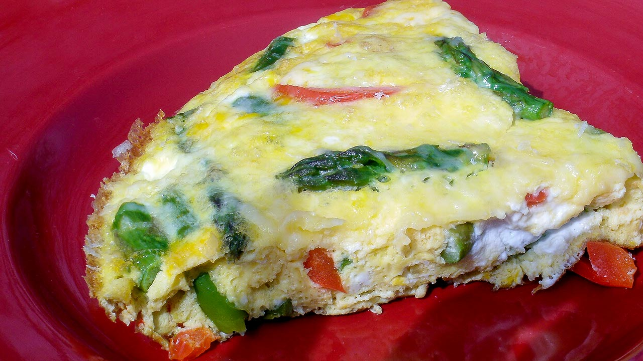 Spring Red Pepper and Asparagus Frittata