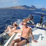 Sailing in blue waters, in volle zon, lekkere 30°C, september 2015