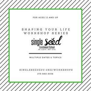 photo advertisement for single seed workshops