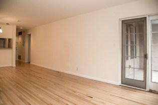 1001 Clinton St #2B - living room towards kitchen