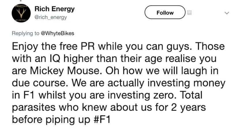 Rich Energy Haas