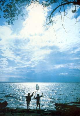 Seth and Eliza on Lake Champlain
