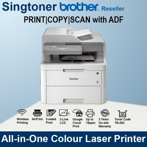 Brother DCP-L3551cdw 3-in-1 multi-function color laser printer