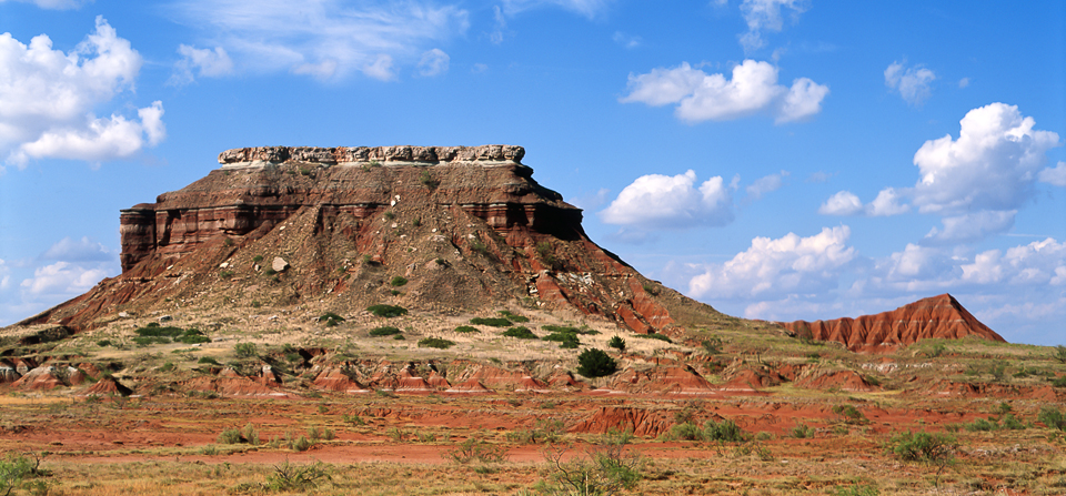 Bluff in the Glass Mountains State Park in NW Oklahoma