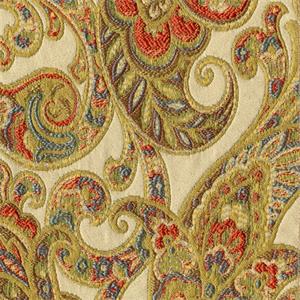 Grand Paisley Gold Jacquard Paisley Upholstery Fabric
