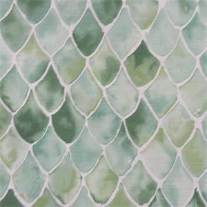 Fish Scale Fabric  Green and White Fabric  BuyFabrics