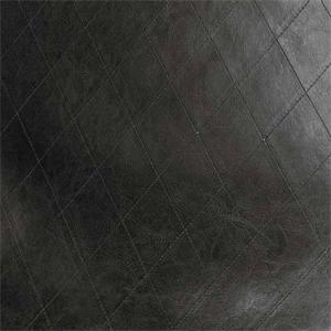 Aberdeen Ebony Black Diamond Stitch Vinyl Upholstery