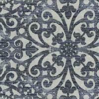 Floral Scroll Indigo Blue Upholstery Fabric 13SEGGA ...