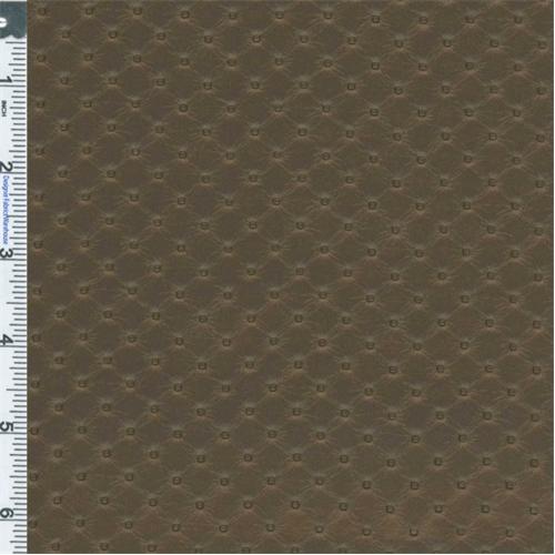 metallic coffee brown diamond faux leather upholstery fabric