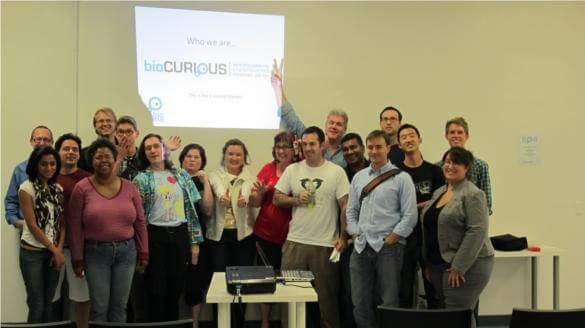 Some of many BioCurious volunteers.