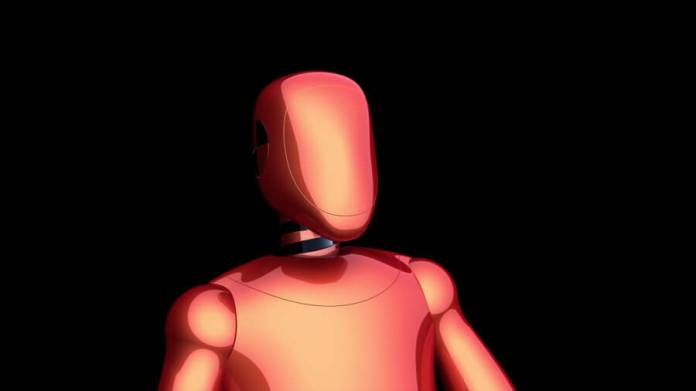 artificial intelligence orange red robot avatar