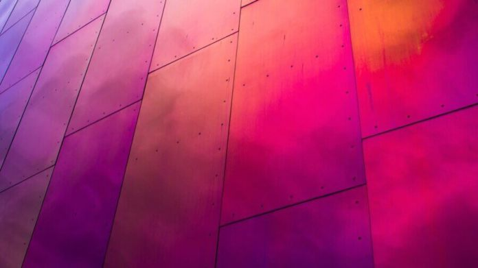 tech stories metal multicolored panels wall
